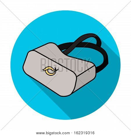 Virtual reality glasses icon in flat style isolated on white background. Virtual reality symbol vector illustration.
