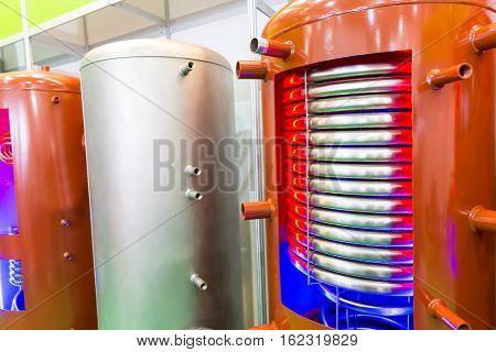Prepared boiler for heating water
