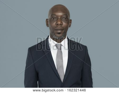 African Descent Man Suit Concept