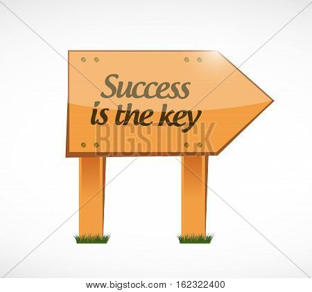 Success Is The Key Wood Sign Concept