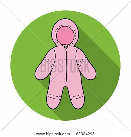 Baby bodysuit icon in flat style isolated on white background. Baby born symbol vector illustration.