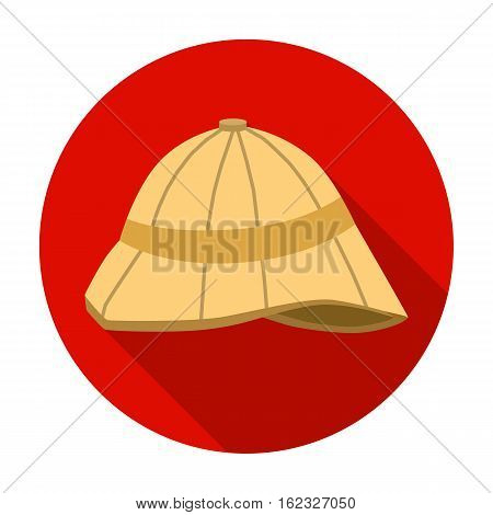 Pith helmet icon in flat style isolated on white background. England country symbol vector illustration.