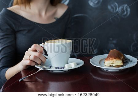 A Cup Of Coffee In Cafe