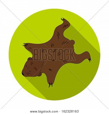 Bearskin icon in flat style isolated on white background. Stone age symbol vector illustration.