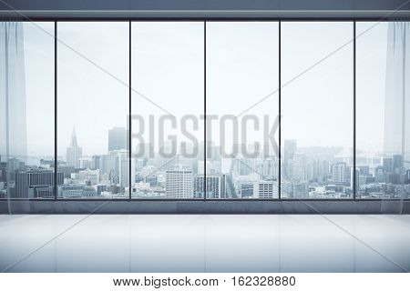 Contemporary Interior With City View