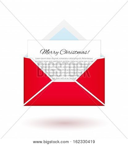 Message from North pole. Merry Christmas and Happy New Year. Vector letter from Santa.