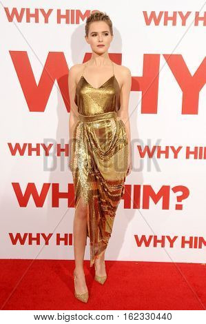 Zoey Deutch at the Los Angeles premiere of 'Why Him?' held at the Regency Bruin Theater in Westwood, USA on December 17, 2016.