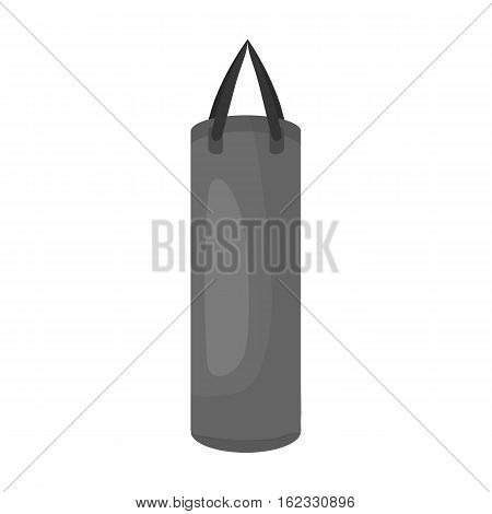 Boxing punching bag icon in monochrome style isolated on white background. Boxing symbol vector illustration.