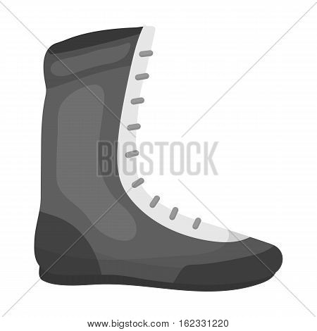 Boxing shoes icon in monochrome style isolated on white background. Boxing symbol vector illustration.