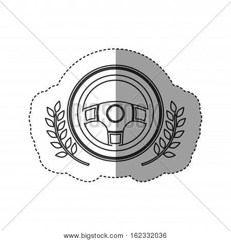 Steering wheel icon. Car automobile transportation and vehicle theme. Isolated design. Vector illustration