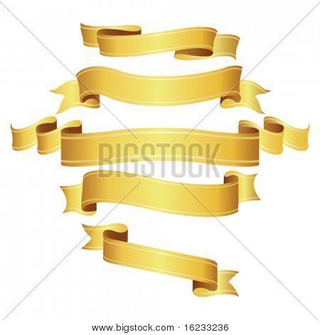 Golden banners