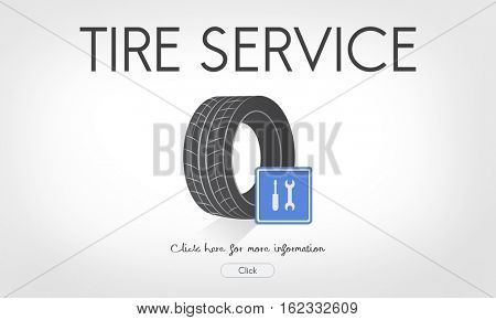 Tire Service Wheel Website Concept