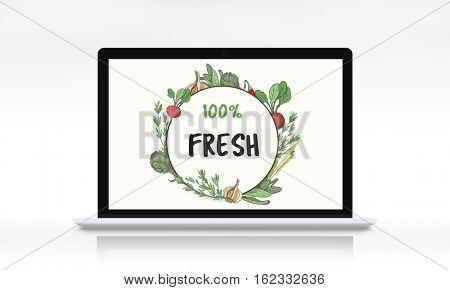 Fresh nutritious green natural heathy