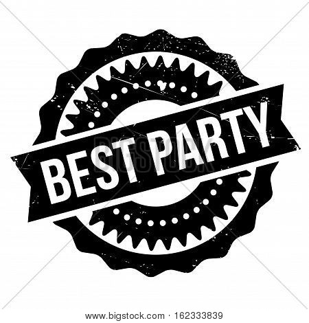 Best party stamp. Grunge design with dust scratches. Effects can be easily removed for a clean, crisp look. Color is easily changed.