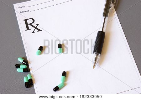 A medical script pad without anything wrote on it.