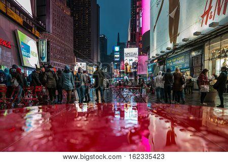 Broadway Street In New York