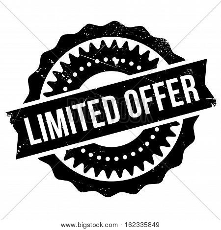 Limited offer stamp. Grunge design with dust scratches. Effects can be easily removed for a clean, crisp look. Color is easily changed.
