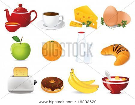 Breakfast icon. Vector poster