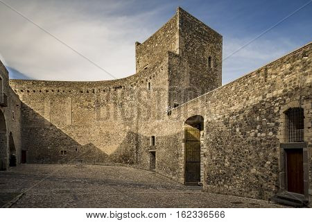 Old and picturesque castle in the small town of Melfi Italy