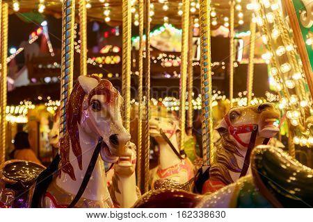Merry-go-round In Winter Wonderland