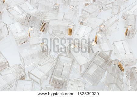 Pile Of Rj45 Ethernet Connectors