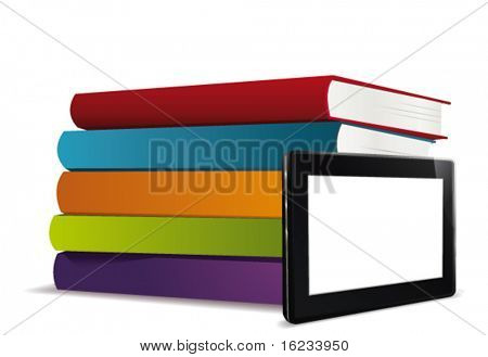 E-book reader. Vector