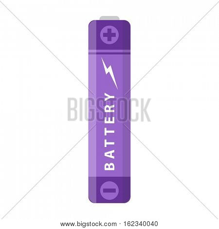 Battery flat colorful clipart isolated. Vector battery AA and accumulator. Isolated on white background.