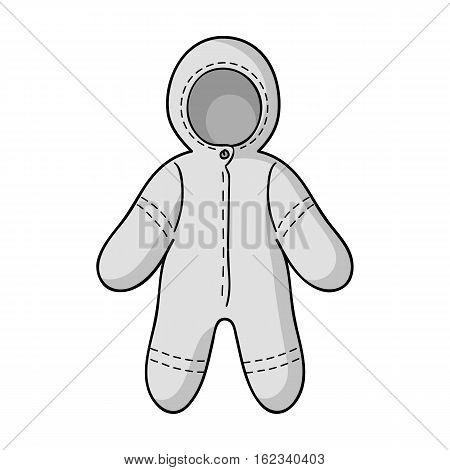 Baby bodysuit icon in monochrome style isolated on white background. Baby born symbol vector illustration.