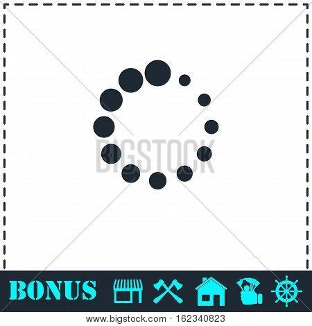 Loading icon flat. Simple vector symbol and bonus icon