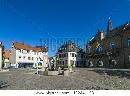 Historic Medieval Market Place In Bad Sobernheim