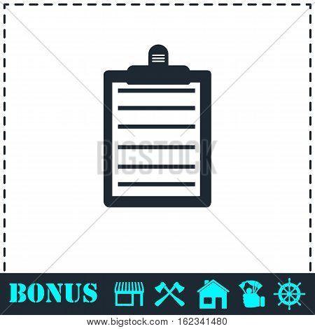 Contract icon flat. Simple vector symbol and bonus icon