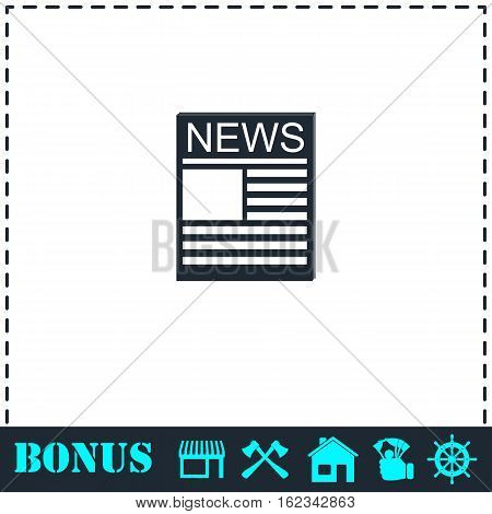 News icon flat. Simple vector symbol and bonus icon