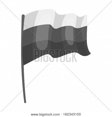 Russian flag icon in monochrome design isolated on white background. Russian country symbol stock vector illustration.