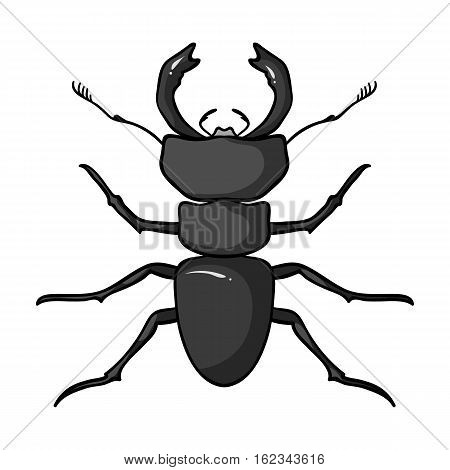 Forest red ant icon in monochrome design isolated on white background. Insects symbol stock vector illustration.