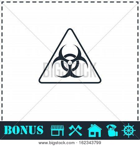 Virus icon flat. Simple vector symbol and bonus icon