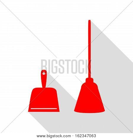 Dustpan Vector Sign. Scoop For Cleaning Garbage Housework Dustpa