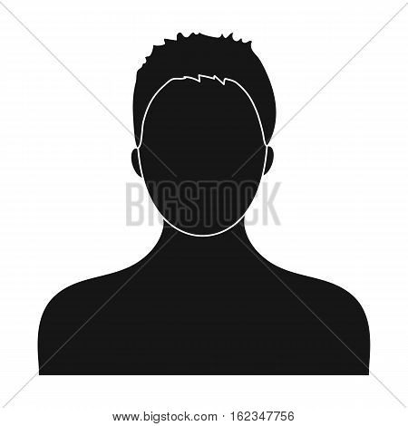 Boxer icon in black style isolated on white background. Boxing symbol vector illustration.
