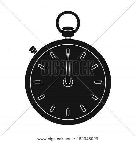Boxing stopwatch icon in black style isolated on white background. Boxing symbol vector illustration.