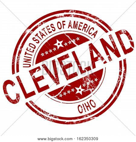 Cleveland Ohio Stamp With White Background