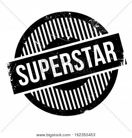 Superstar rubber stamp. Grunge design with dust scratches. Effects can be easily removed for a clean, crisp look. Color is easily changed.