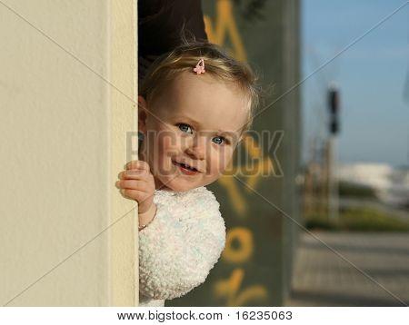 cheeky little girl