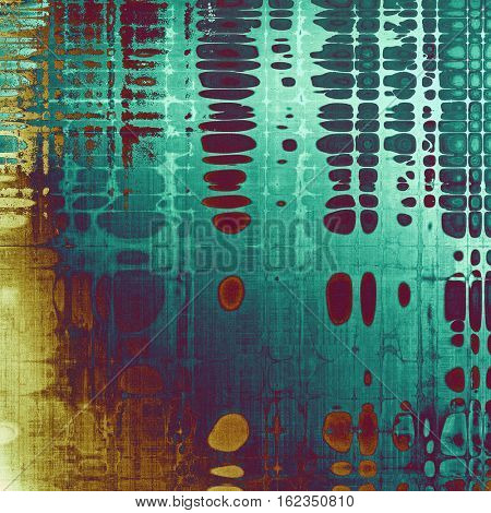 Abstract retro design composition. Stylish grunge background or texture with different color patterns: yellow (beige); brown; blue; red (orange); purple (violet); cyan