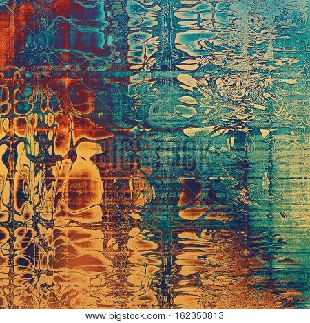 Retro texture, shabby and ragged background in grunge style. With different color patterns: yellow (beige); brown; blue; red (orange); purple (violet); cyan