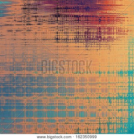Vintage background, antique grunge backdrop or scratched texture with different color patterns: yellow (beige); blue; red (orange); purple (violet); pink