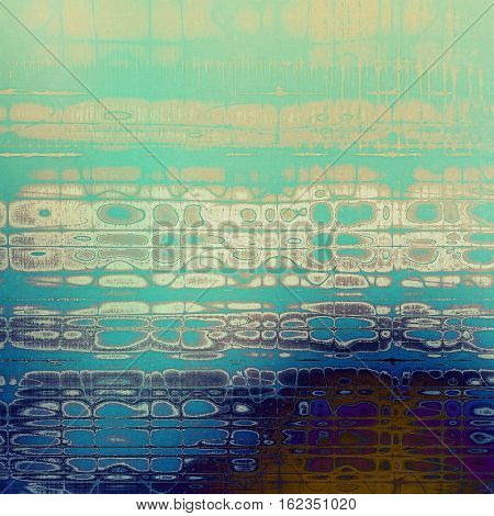 Vintage old-style texture, worn and rough grunge background with different color patterns: yellow (beige); brown; gray; blue; purple (violet); cyan