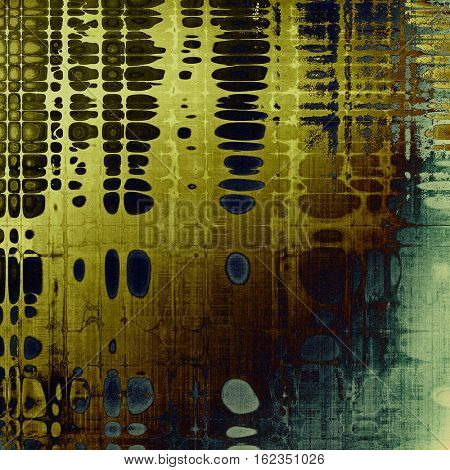 Oldest vintage background in grunge style. Ancient texture with different color patterns: yellow (beige); brown; gray; blue; cyan