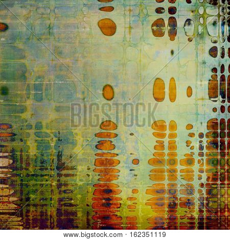 Abstract colorful background or backdrop with grunge texture and different color patterns: yellow (beige); brown; green; gray; blue; red (orange)