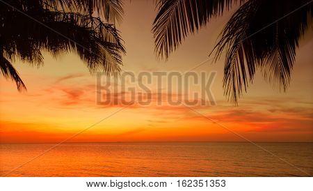 stunning beautiful, gorgeous sunset time at Cuban Cayo Coco island