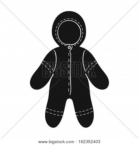 Baby bodysuit icon in black style isolated on white background. Baby born symbol vector illustration.