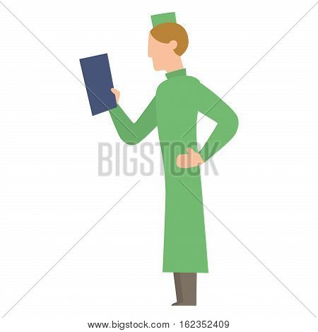 Doctor people young male professional surgeon. Medical team practitioner at hospital looking happy. Clinic occupational illness job specialist vector character.